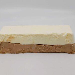 Blok vanille natuur – chocolade ijs